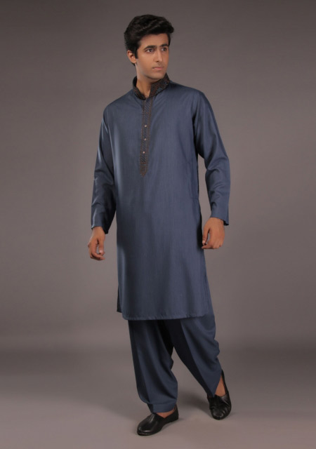 Blue kurta designs for EId