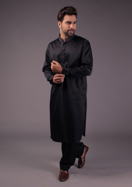 Men black kurta designs for Eid