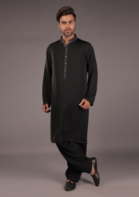 Black kurta designs for Eid namaz