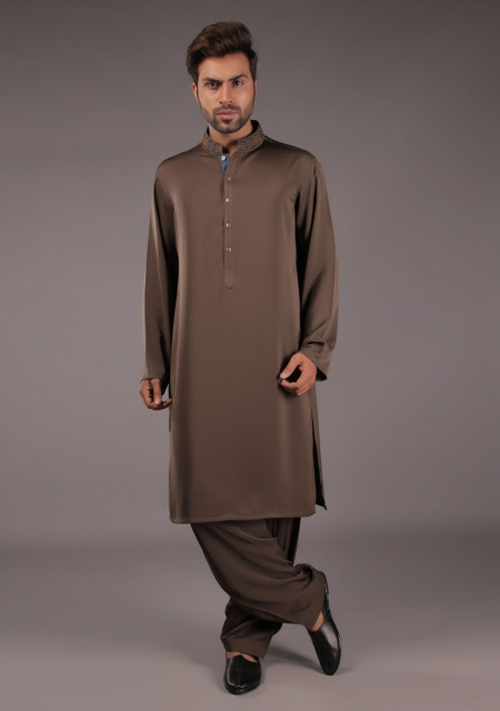 Gents brown kurta designs