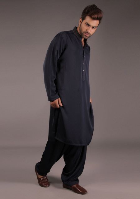 Gents black kurta designs for Eid