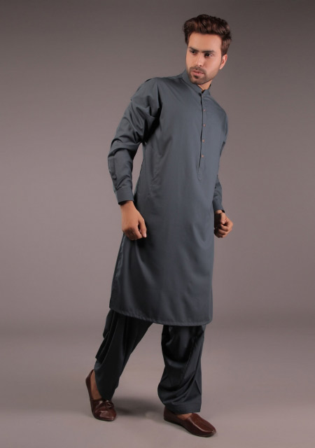 Gents grey kurta designs for Eid namaz