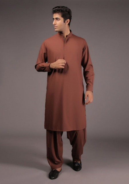 Pakistani gents brown kurta for Eid