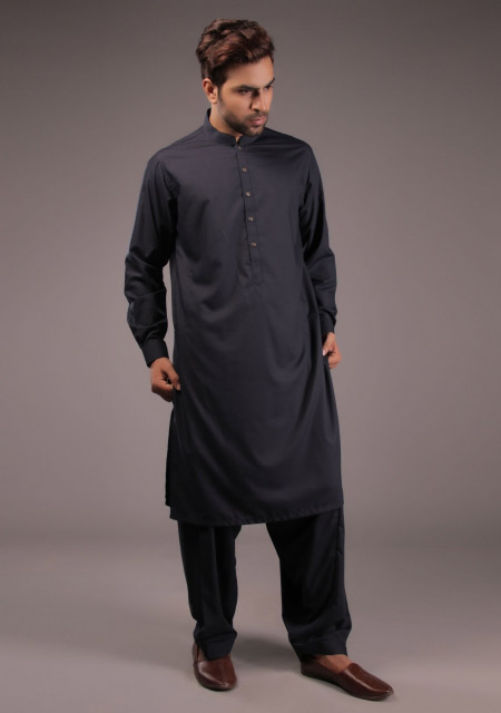 Pakistani black kurta designs for Eid