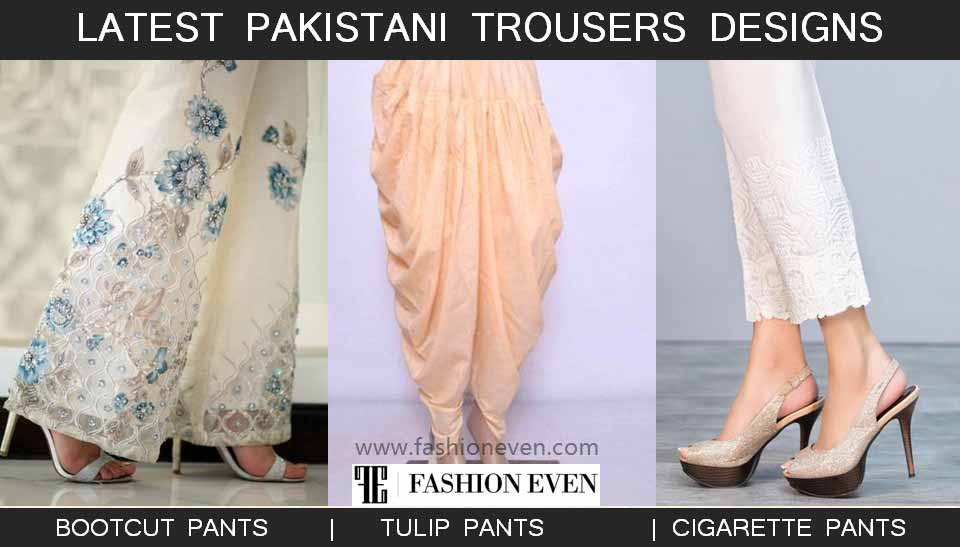 Best Pakistani trousers designs for ladies