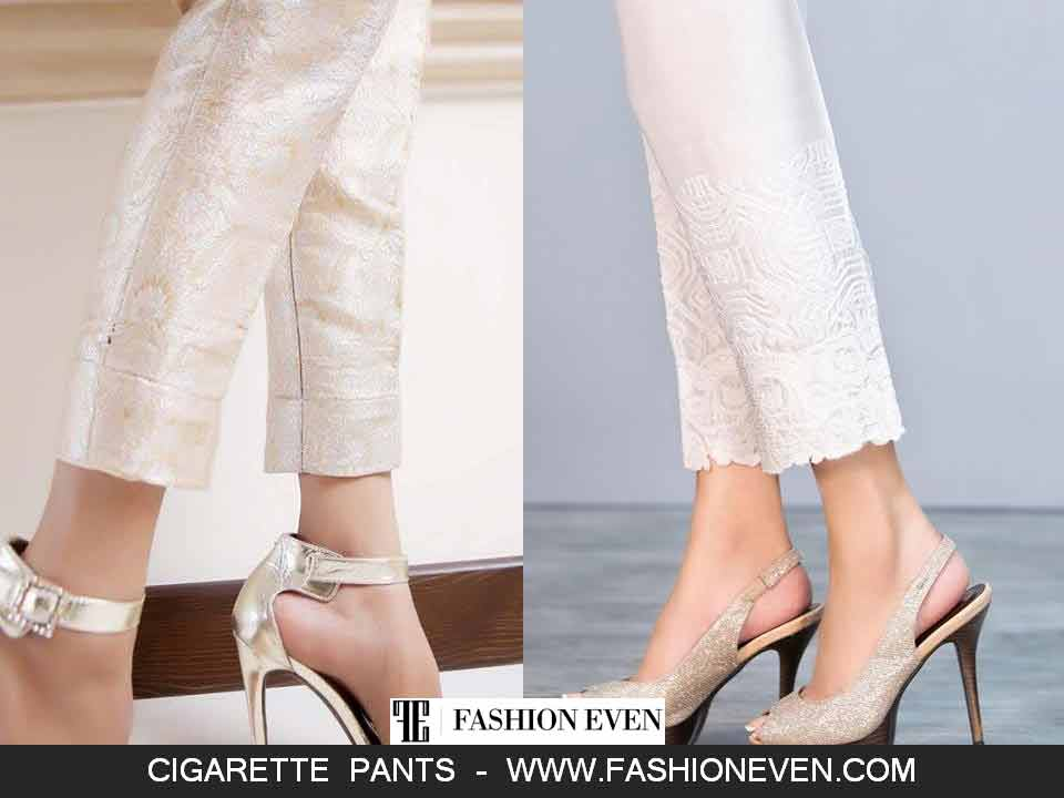 Latest silk cigarette pants designs in Pakistan