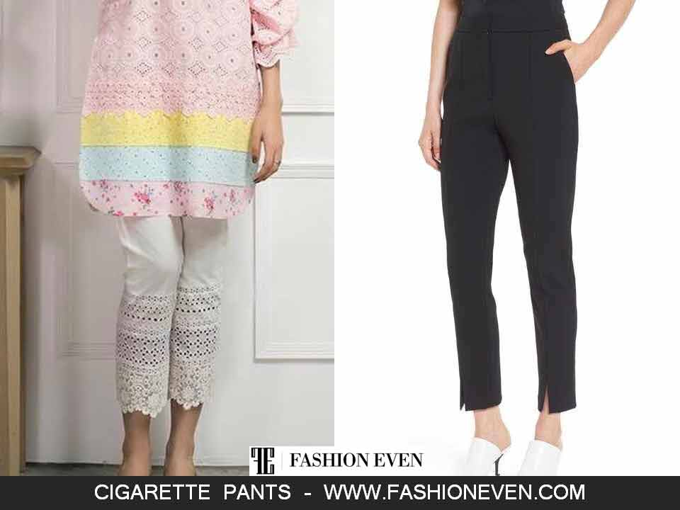 Chicken cigarette pants and straight pants with slit