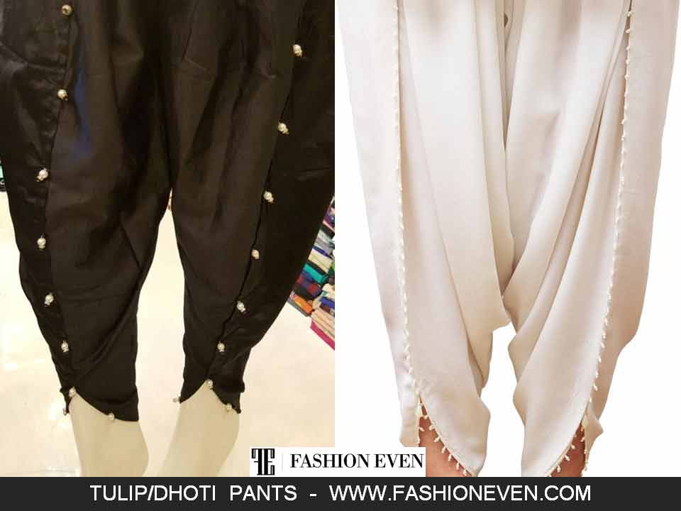 Latest Tulip shalwar with pearls designs in Pakistan