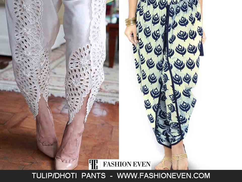 Printed dhoti shalwar designs in Pakistan