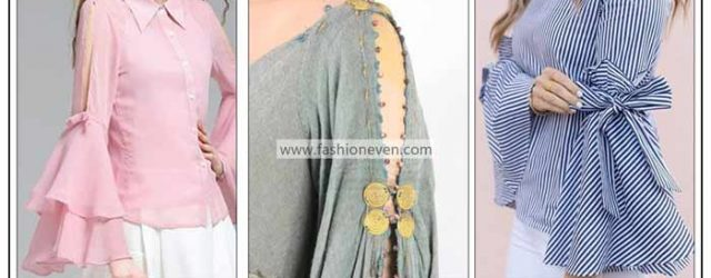 Latest full three quarter and half sleeves designs in Pakistan for ladies