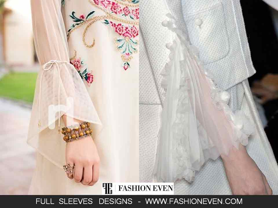 Formal net sleeves designs for shalwar kameez
