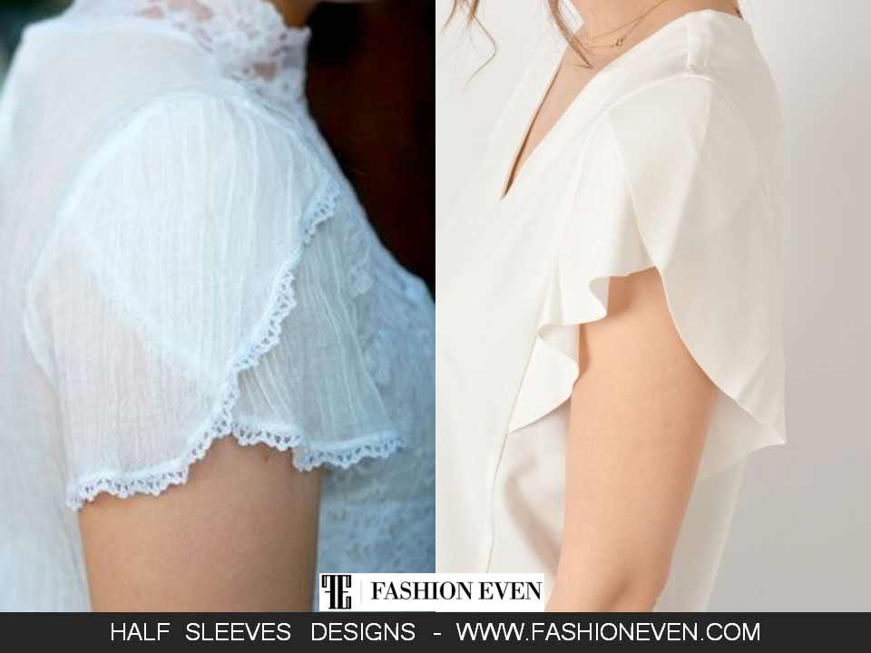 White patel half sleeves designs in Pakistan