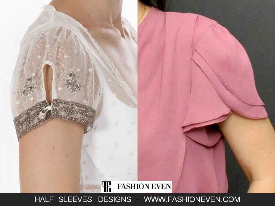 White slit and patel sleeves designs in Pakistan