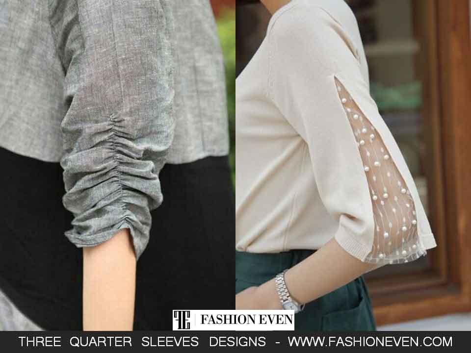 Beautiful three quarter sleeves designs in Pakistan
