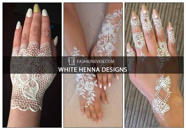 Latest and new white henna designs