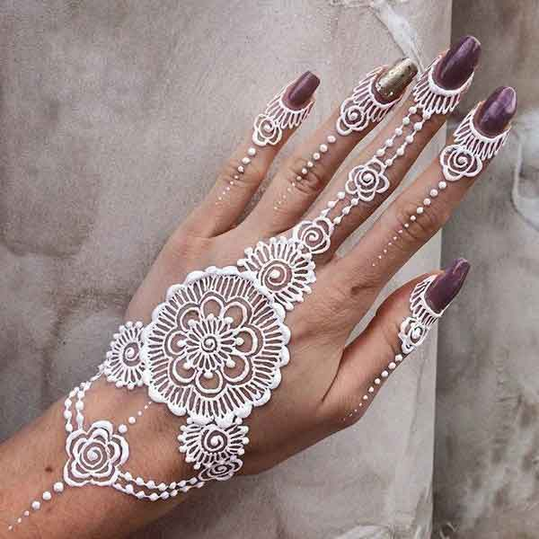 Gol Tikka White Henna Designs Fashioneven