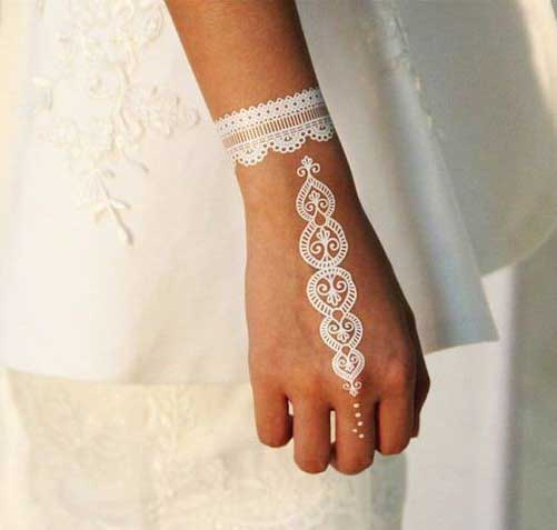 Simple white mehndi designs