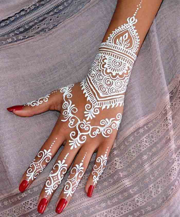 Best white henna designs for hands