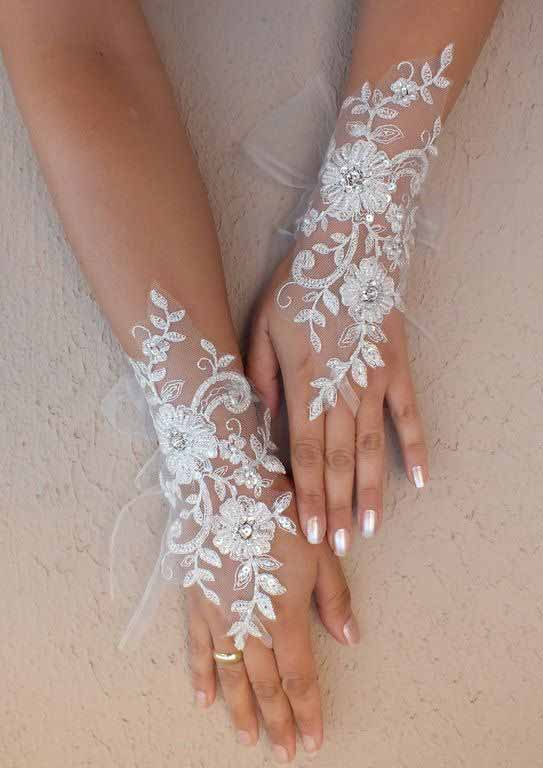Lace white henna designs for hands