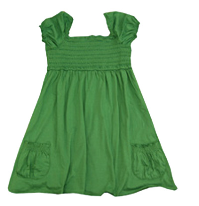 Green baby frock for 14 august in Pakistan