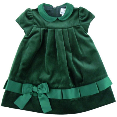Baby girl green frock for 14 August