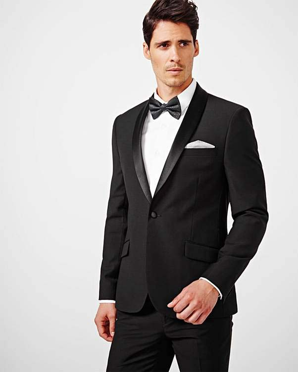 Black and white tuxedo for groom