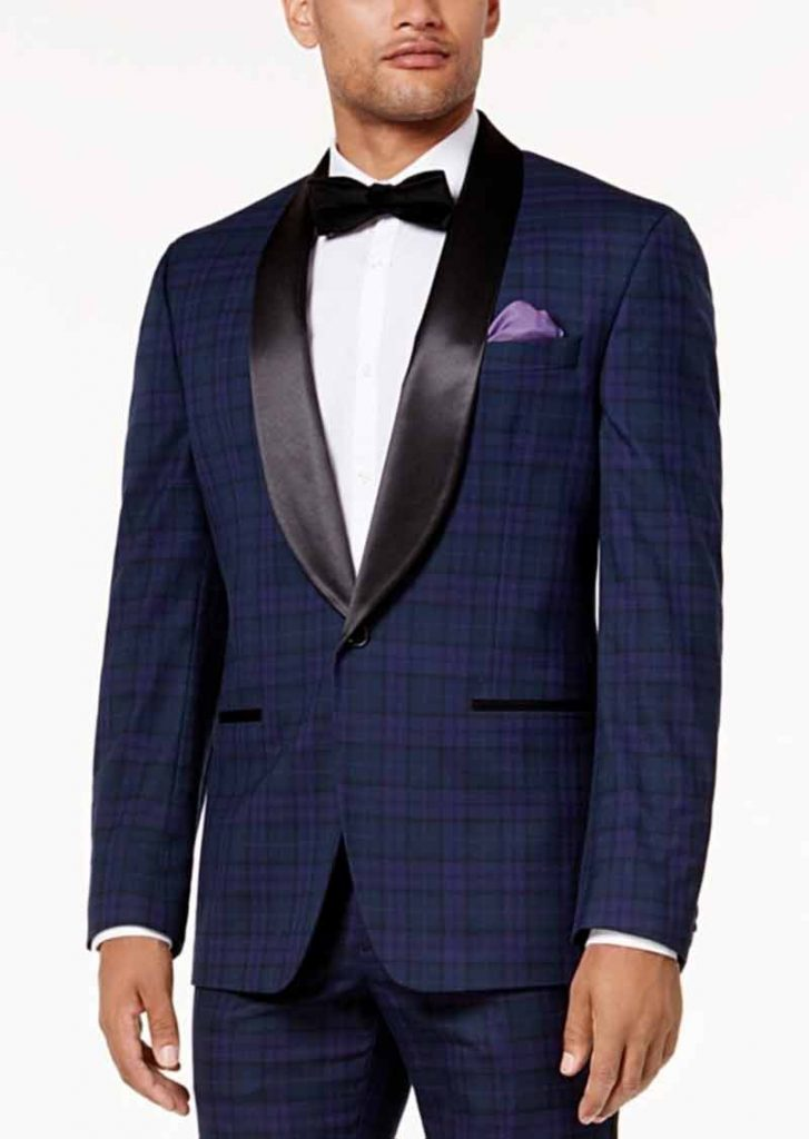 Blue wedding suit for groom