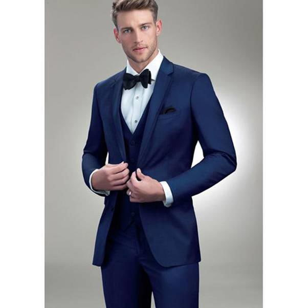Blue suit for groom in Pakistan