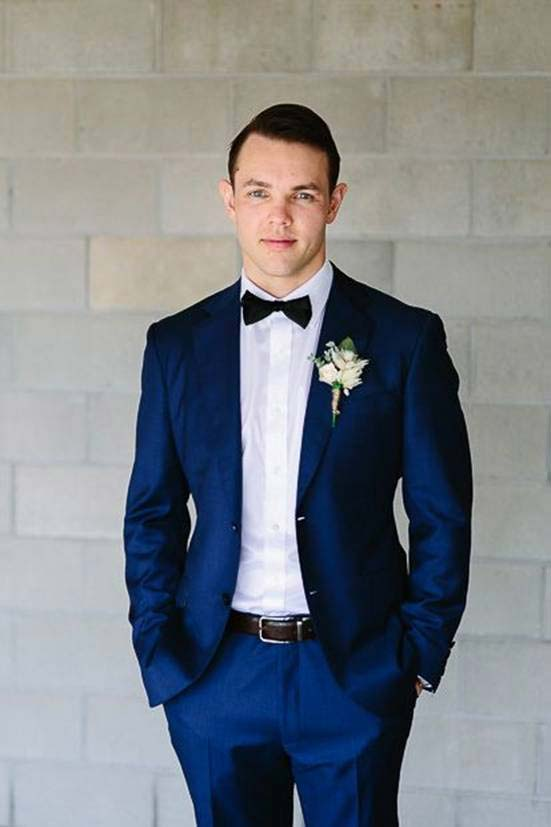 Latest blue wedding suit for groom