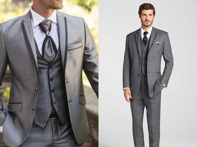 Grey suit for men wedding