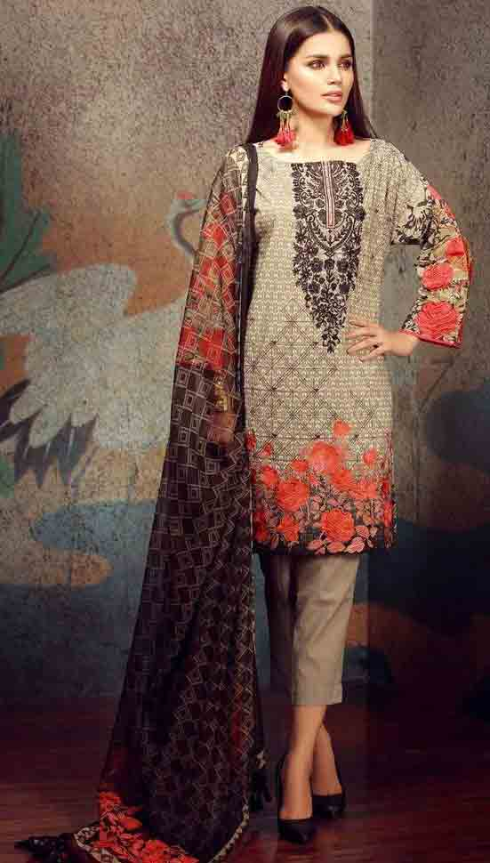 Brown kurti with trouser stitching designs