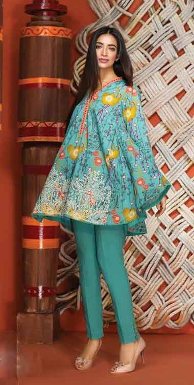 Blue short frock stitching designs for girls