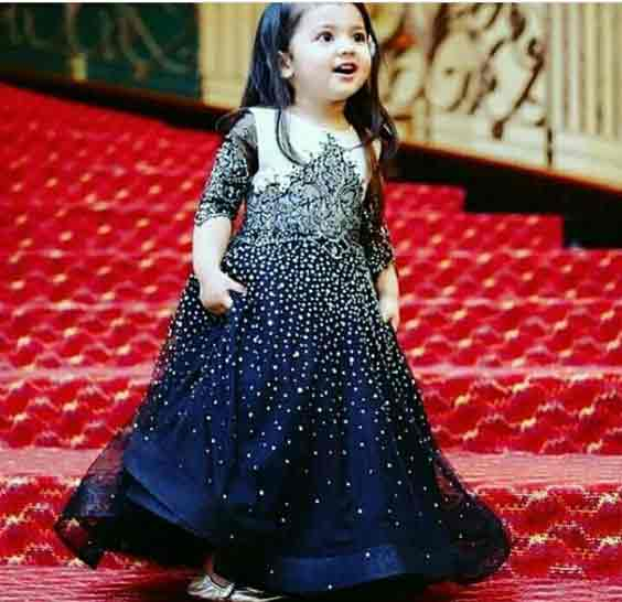 Blue baby wedding dress in Pakistan