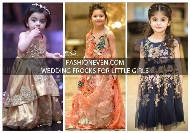 Latest baby girls wedding frocks in Pakistan