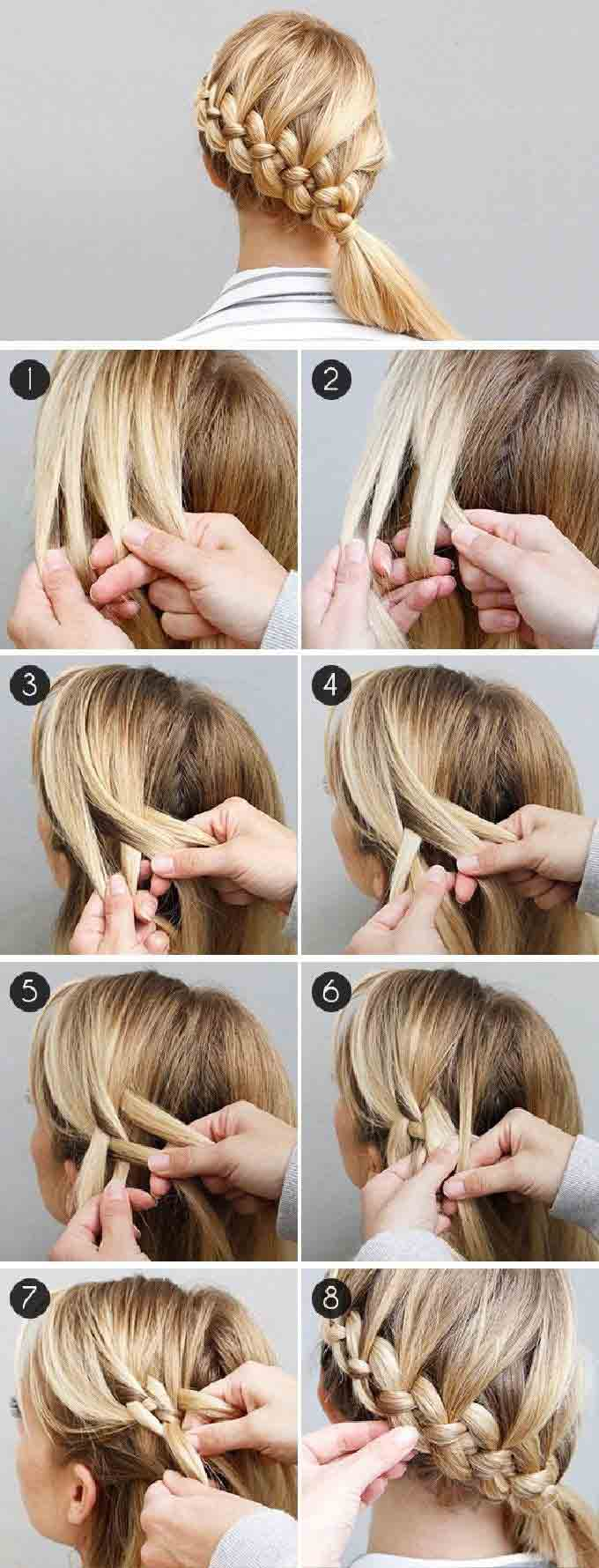 Christmas dutch braid tutorial step by step