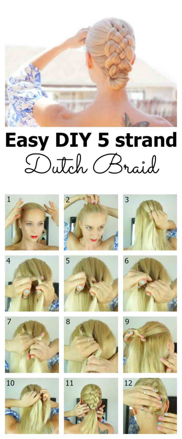 Easy diy dutch braid for Christmas for girls