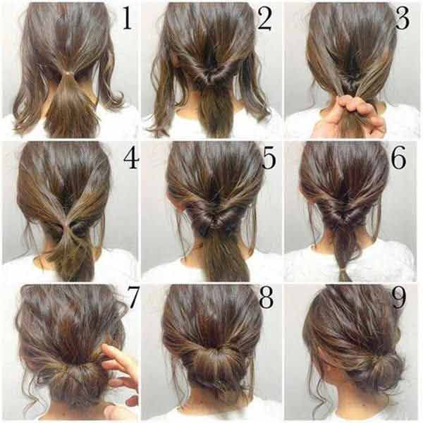 Step by step hair bun for Christmas