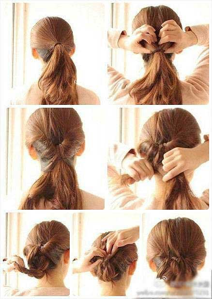 Hair bun hairstyle step by step for girls