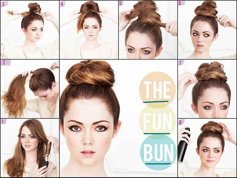 Up hair bun tutorial for Christmas