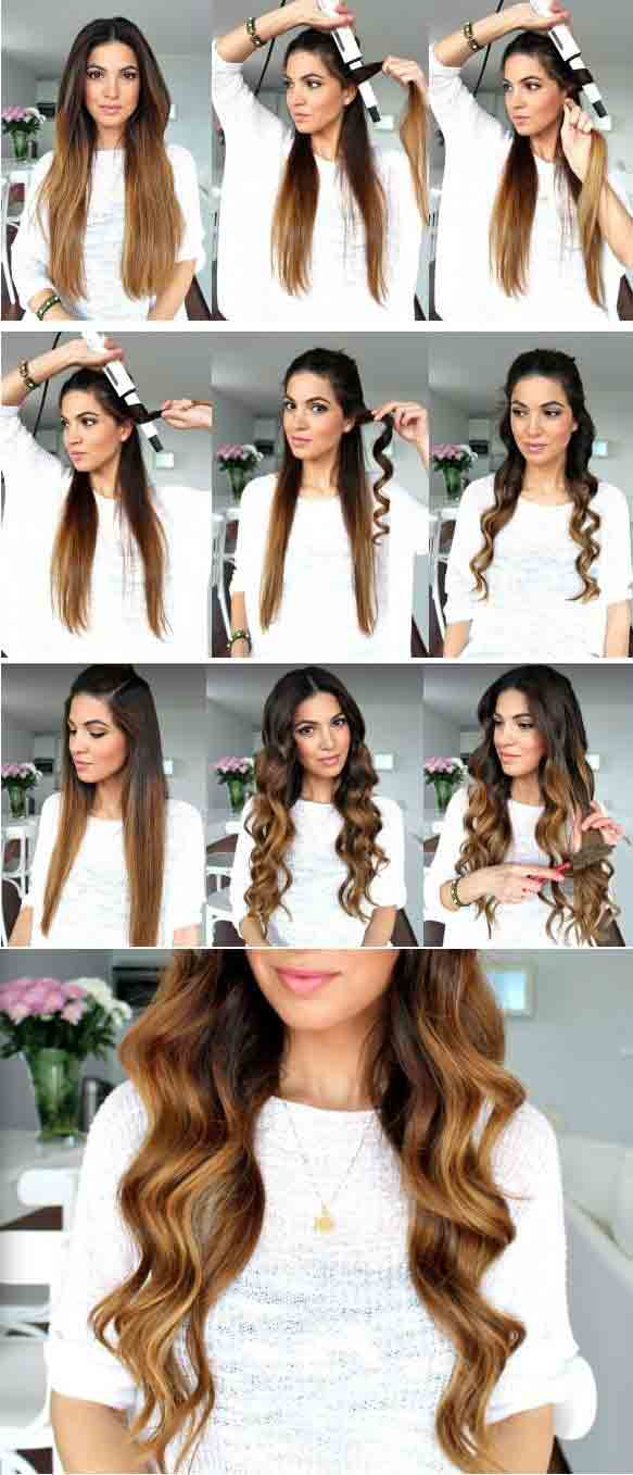 Christmas hair curls tutorial step by step