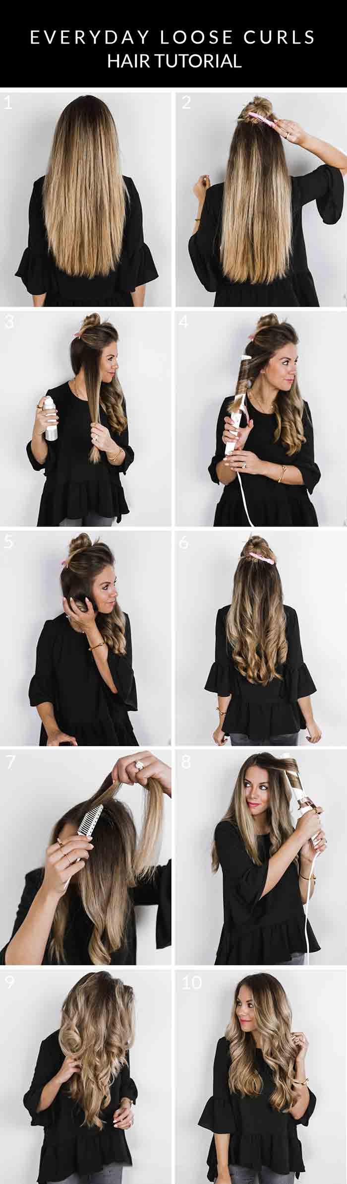 Hair curls tutorial for Christmas