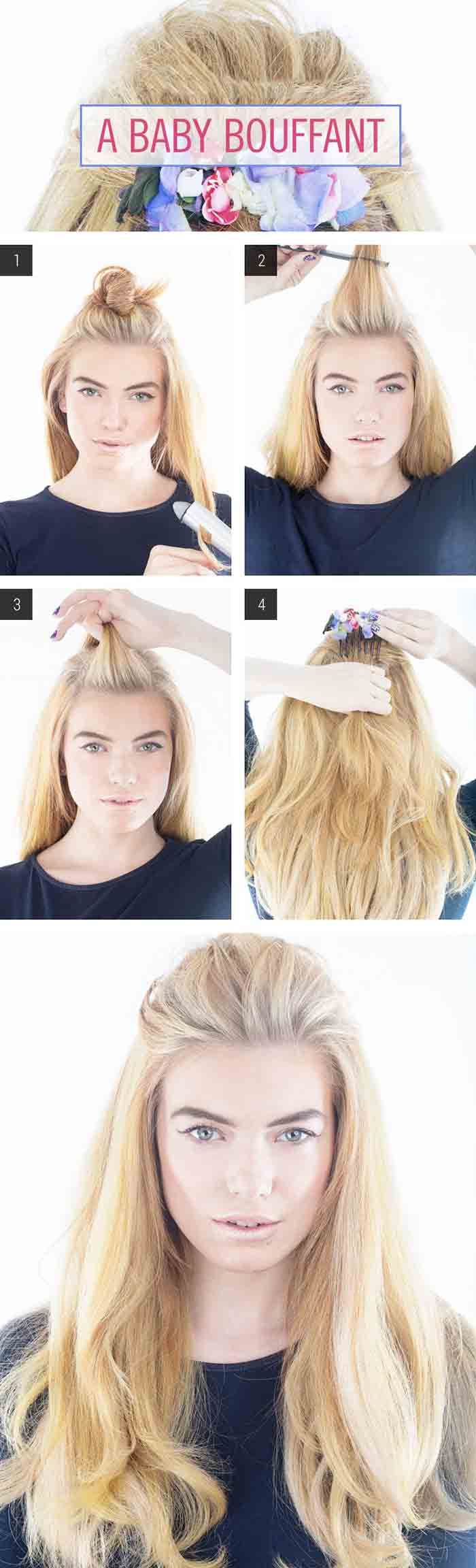 Hair tease tutorial step by step