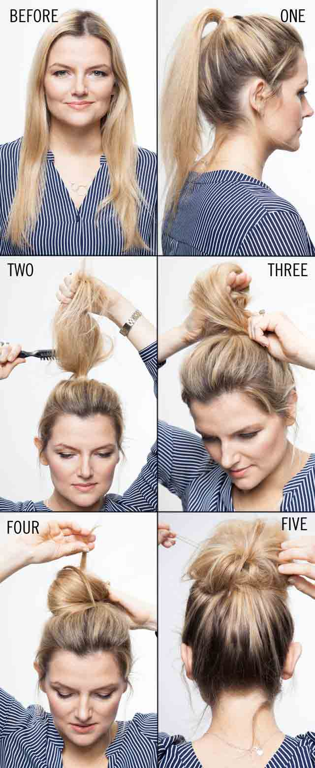 Hair teasing style step by step tutorial