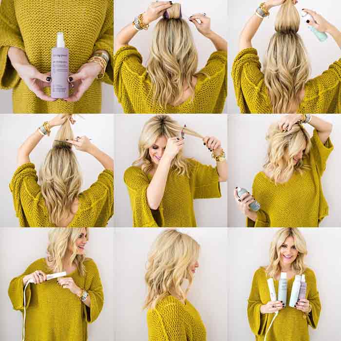 Christmas hair tease style step by step