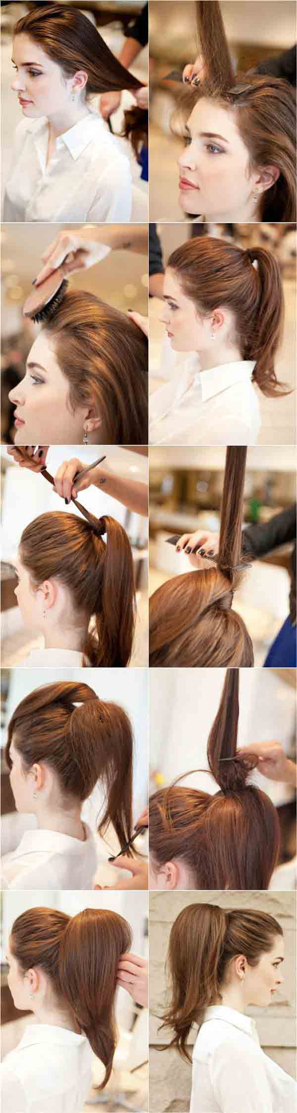 Hair tease hair style step by step tutorial