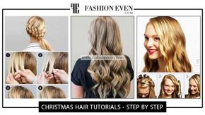 Christmas Party hairstyles Tutorials For Girls In 2019