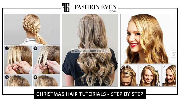 Christmas Party hairstyles Tutorials For Girls In 2020