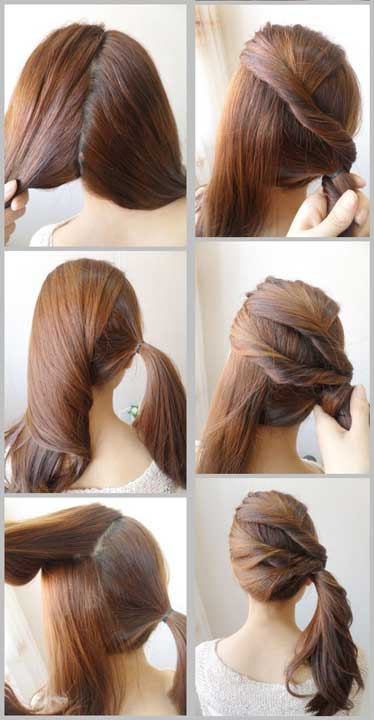 Hair twist step by step tutorial for Christmas