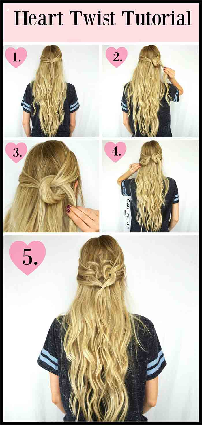 Hair twist hairstyle tutorial step by step