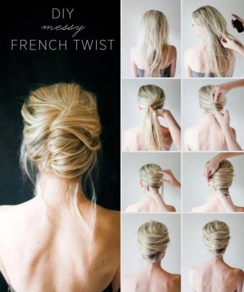 Hair twist hair bun step by step
